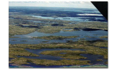 Lake Aylmer from the air